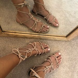 Rebecca Minkoff lace up sandals 8